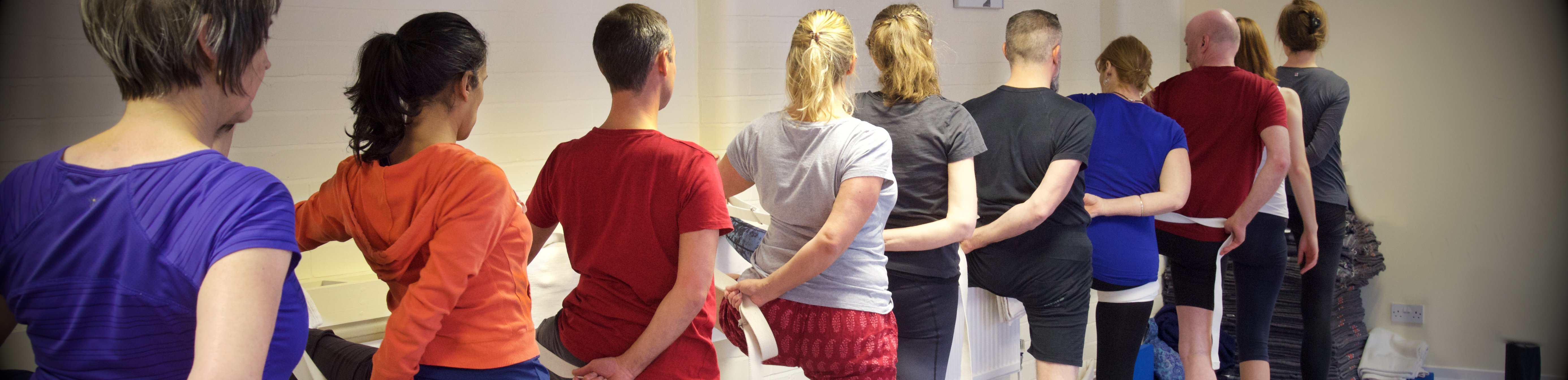 Students at Congleton Iengar Yoga Centre