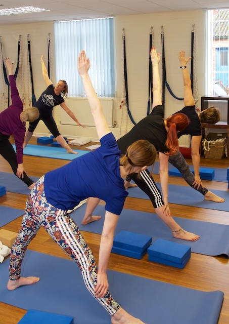 Participants yoga day Congleton Iyengar Yoga Centre